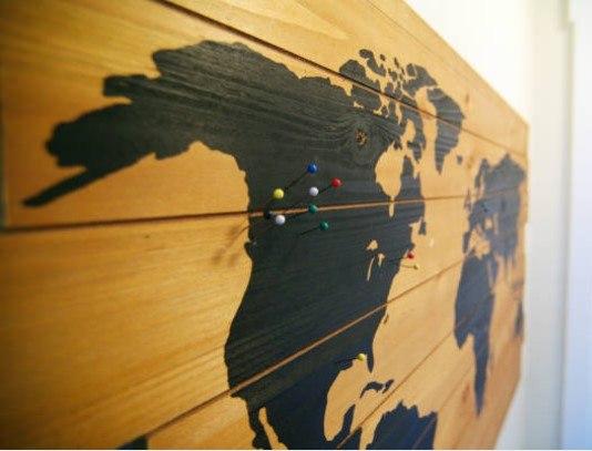 Mapas regionales, continentales y mundiales