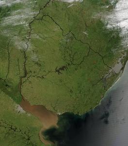 mapa satelital uruguay