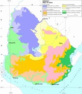 mapa suelos uruguay