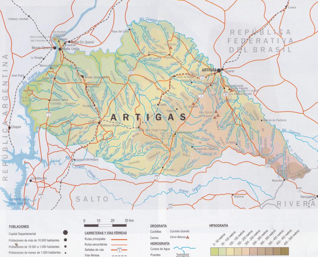 Mapa ARtigas grande