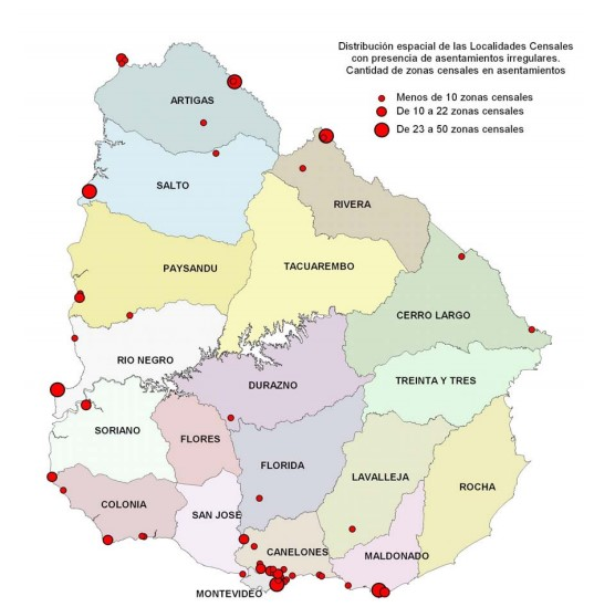 Mapa asentamientos irregulares 2004