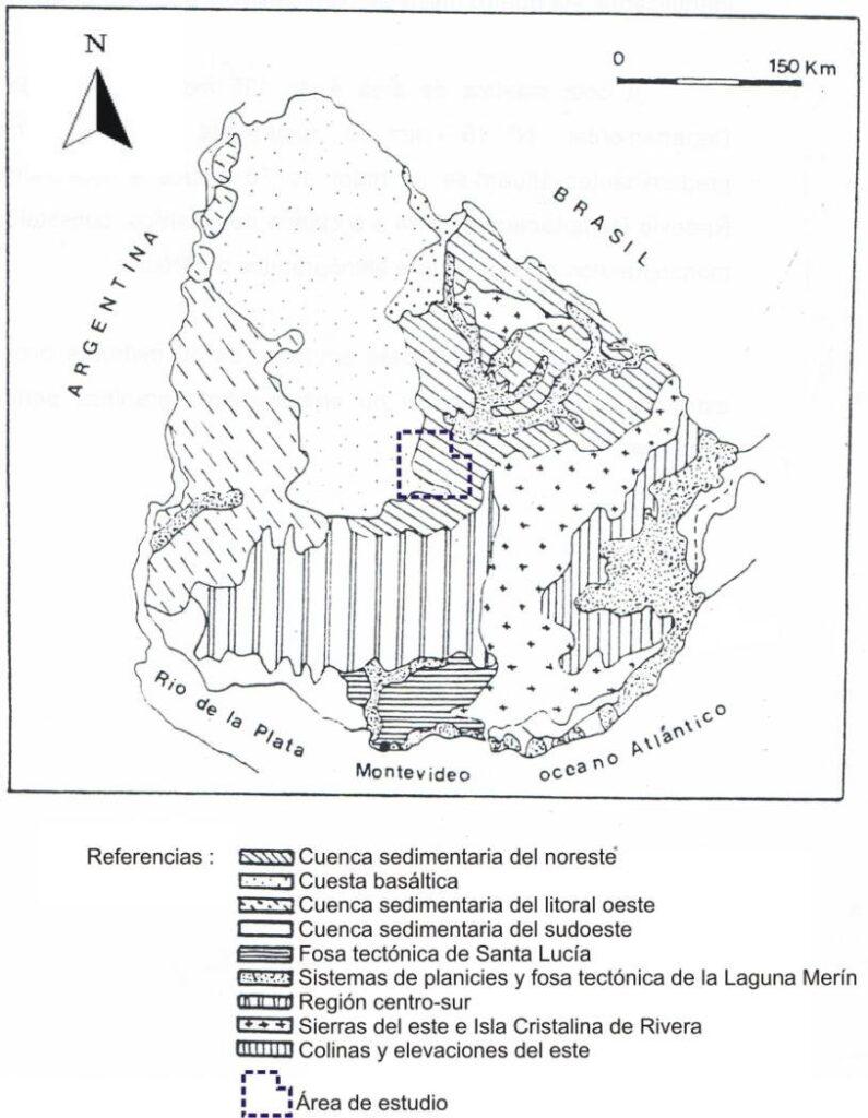 Mapa Geomorfológico de Uruguay
