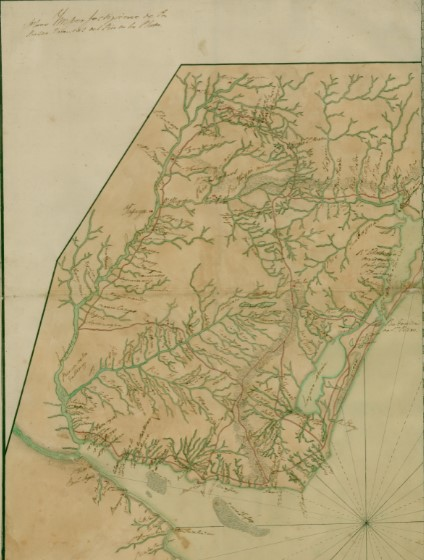 Mapa banda oriental uruguay 1770