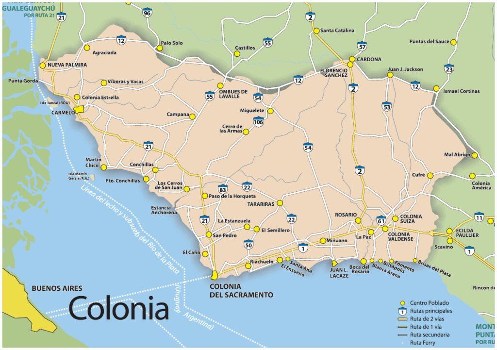 Mapa Colonia