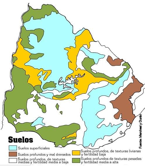 Mapa suelos del uruguay