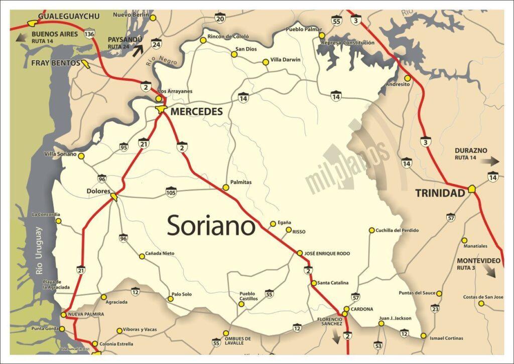 Mapa soriano grande