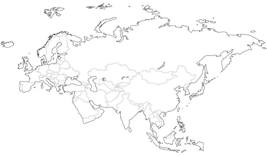 Mapa Eurasia político
