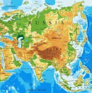 Mapa fisico eurasia