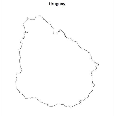 Mapa en blanco Uruguay