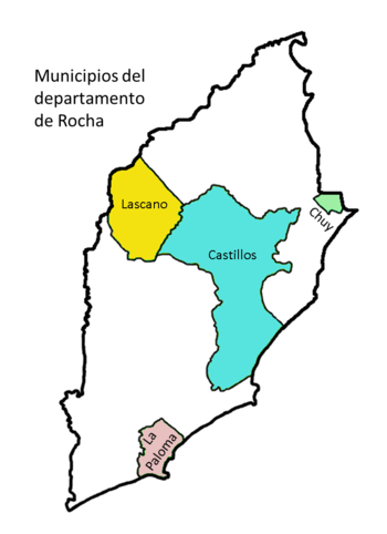 Mapa municipios Rocha