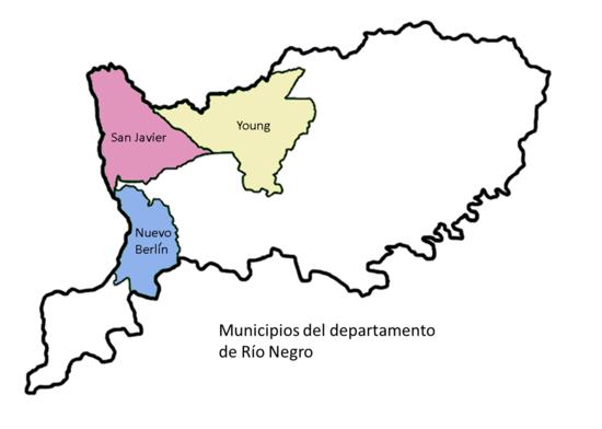 Mapa municios Río Negro