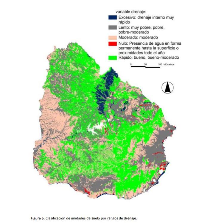Mapa suelos uruguay según drejane