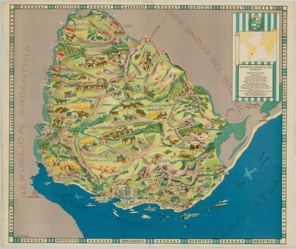 Mapa temático Uruguay 1936