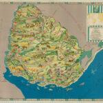 Mapa temático ilustrado de Uruguay 1936 gigante