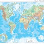 Mapamundi físico mudo gigantesco