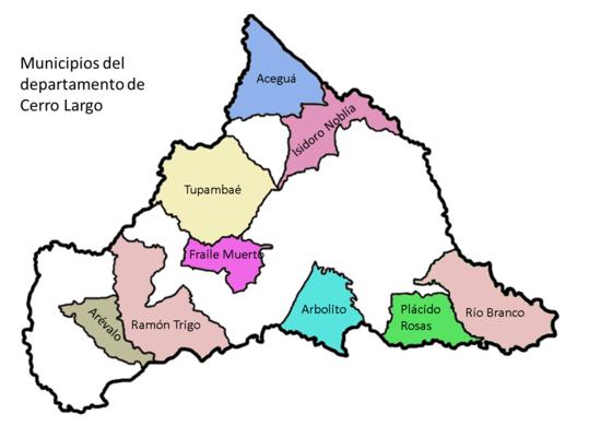 Mapa Municipios Cerro Largo