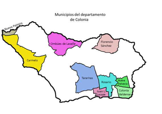 Mapa municipios Colonia