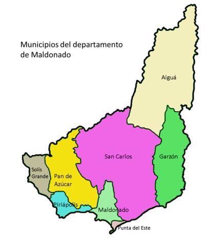 Mapa Maldonado municipios