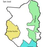 Mapa de San José municipios