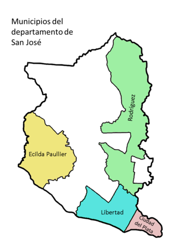 Mapa San José municipios