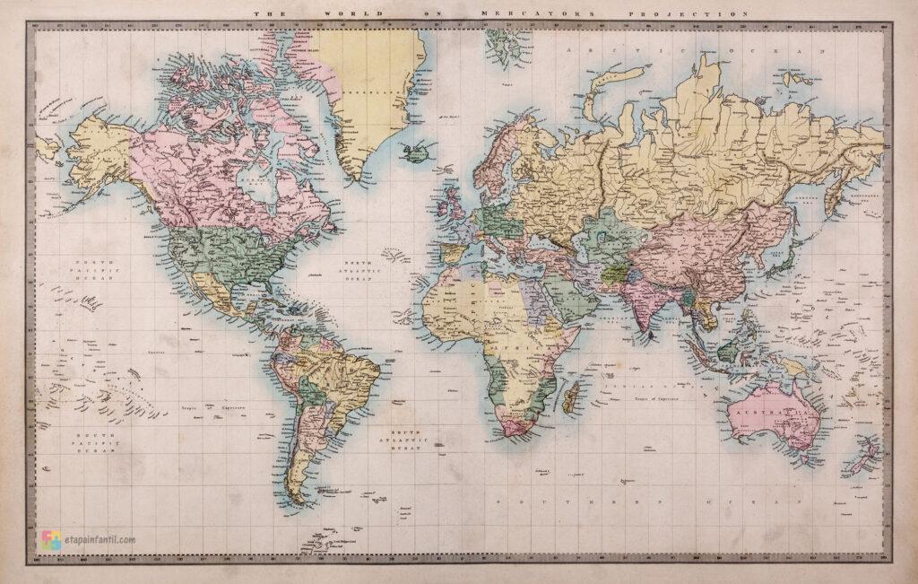 Planisferio antiguo gigante