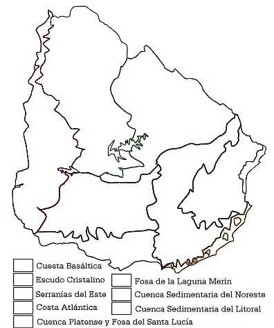Mapas regiones geomorfologicas Uruguay
