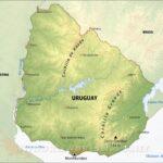 Mapa satelital de Uruguay