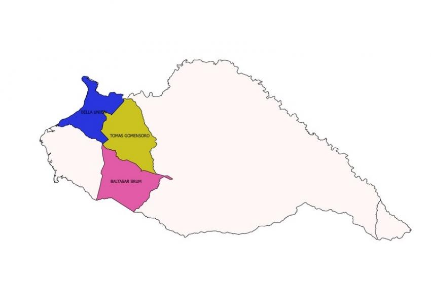 Mapa Artigas Municipios