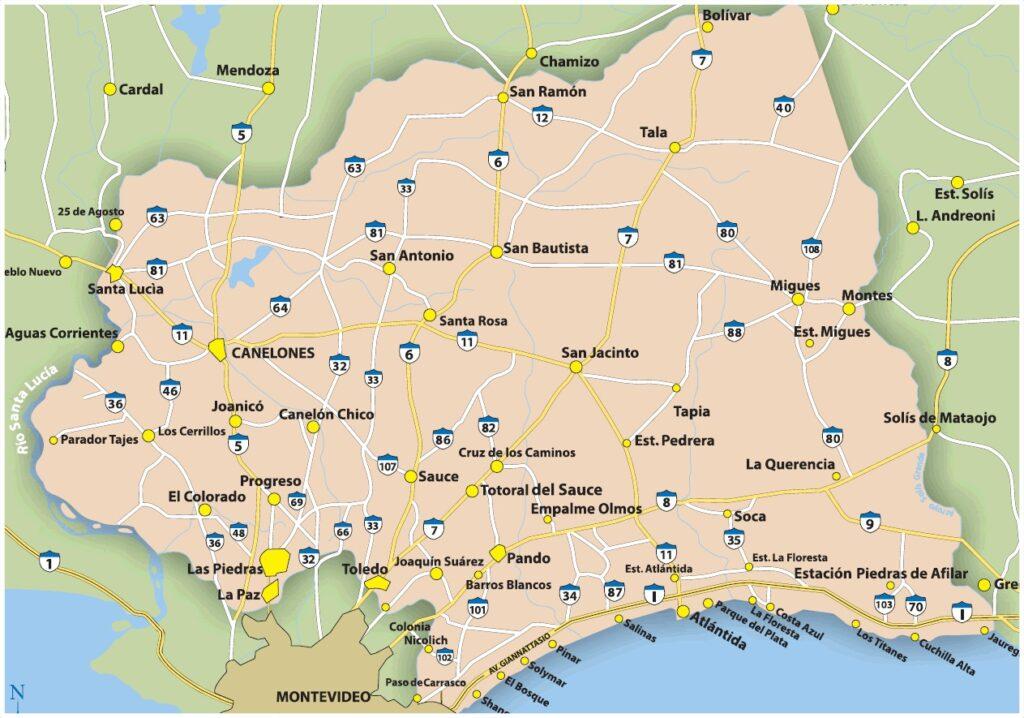 Mapa de canelones