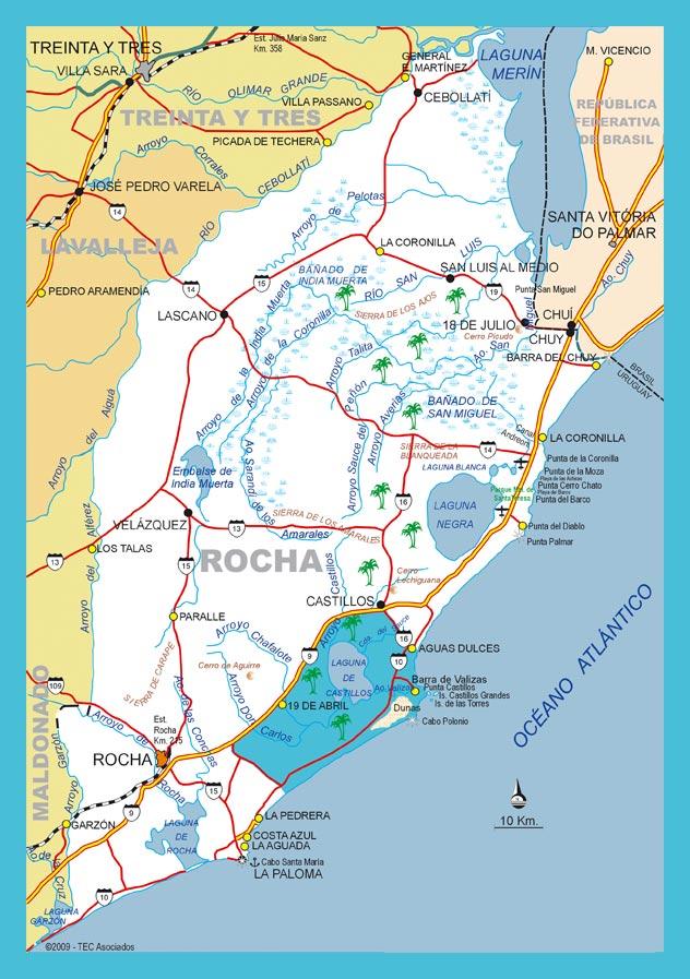 Mapa Rocha departamento