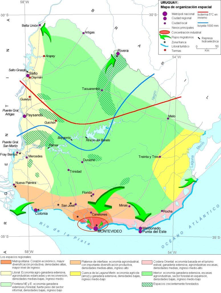 Mapa organización espacial uruguay