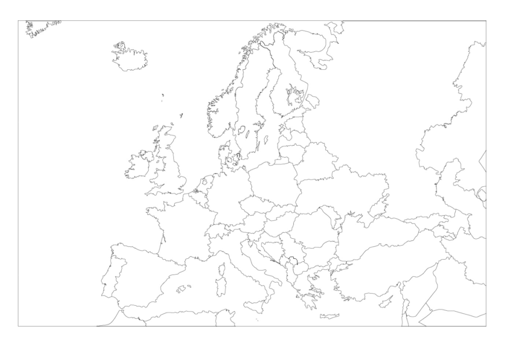 Mapa de europa mudo