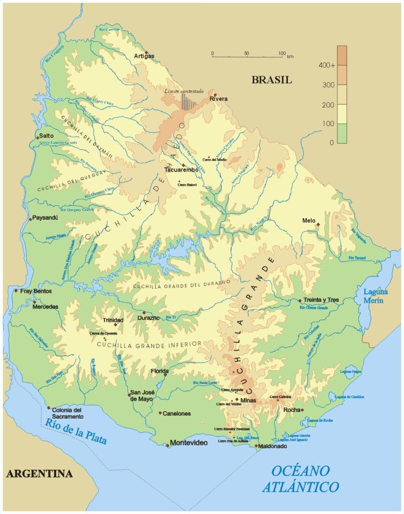 el mapa físico