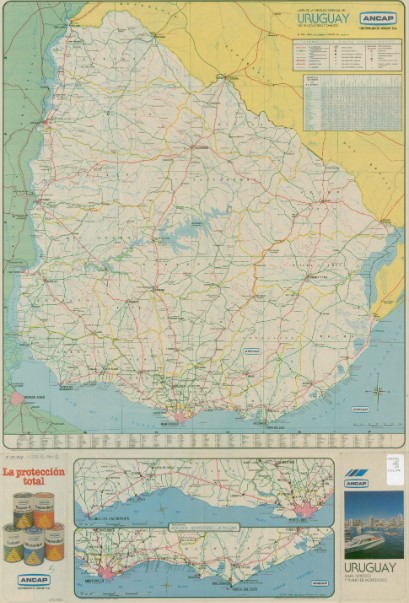 Mapa rutas gigante uruguay