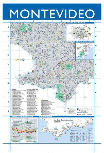 Mapa turistico y calles Montevideo