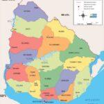 Mapa Político Uruguay con colores