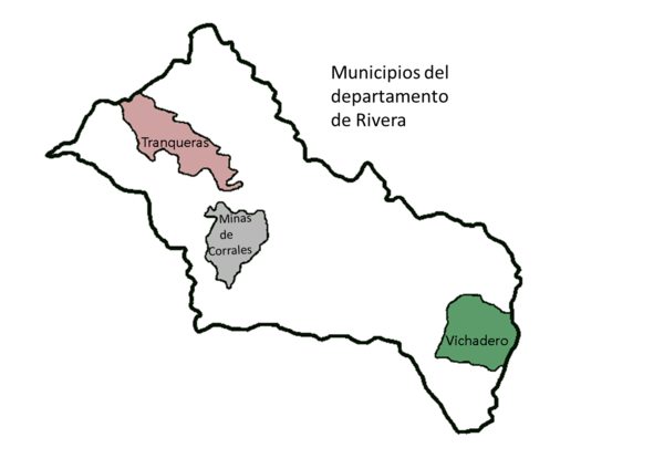Mapa municipios Rivera