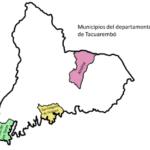 Mapa de Tacuarembó y sus municipios