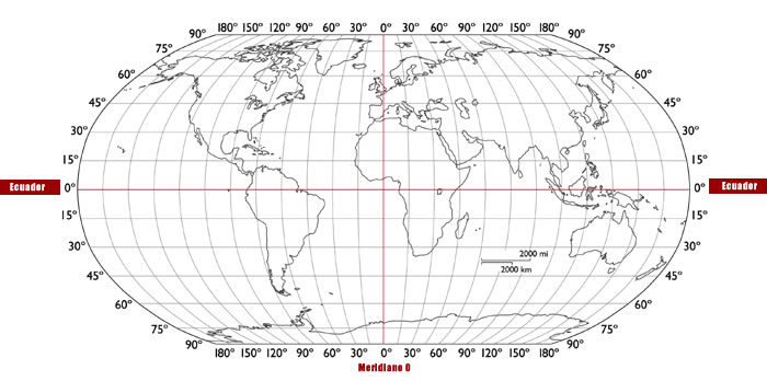 Planisferio con coordenadas mudo