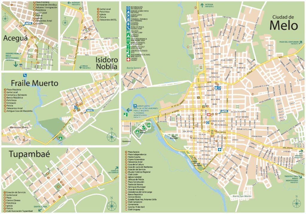 Plano Cerro Largo y Melo