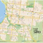 Plano de la ciudad de Salto