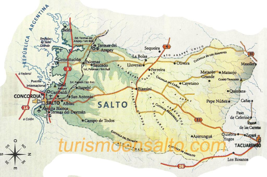 Mapa de Salto