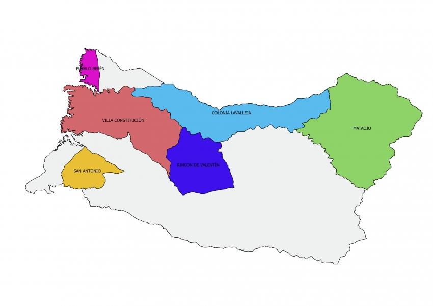 Mapa Salto municipios