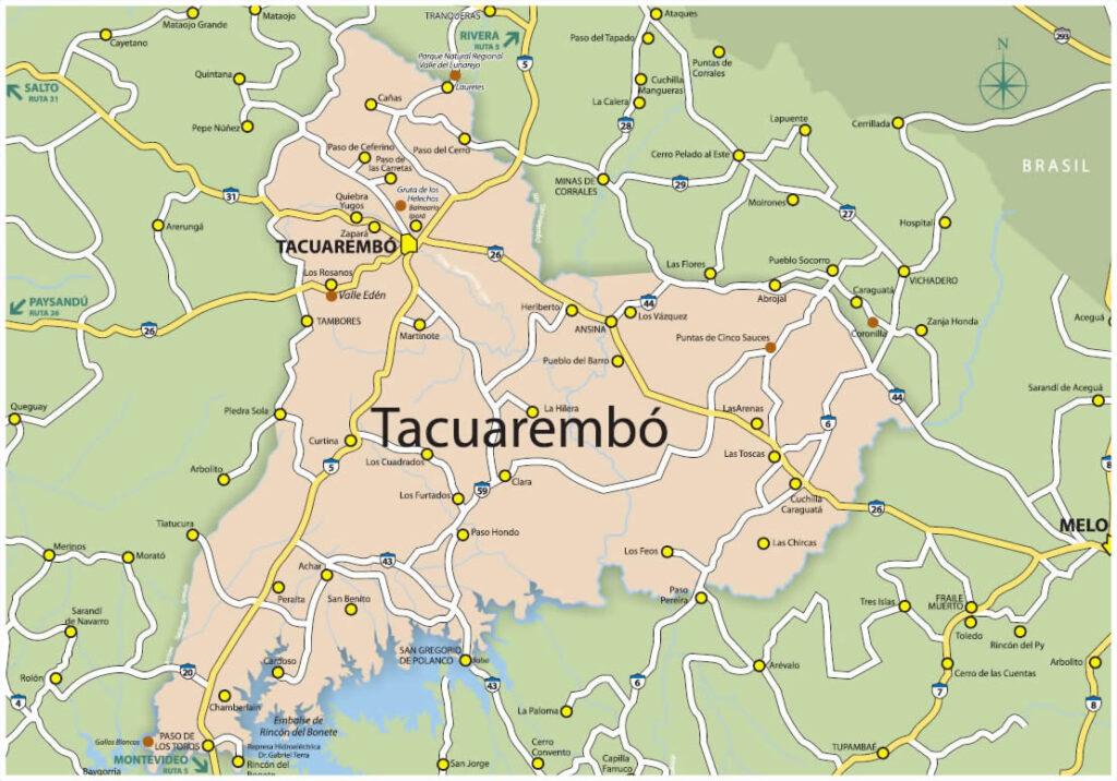 Mapa Tacuarembó