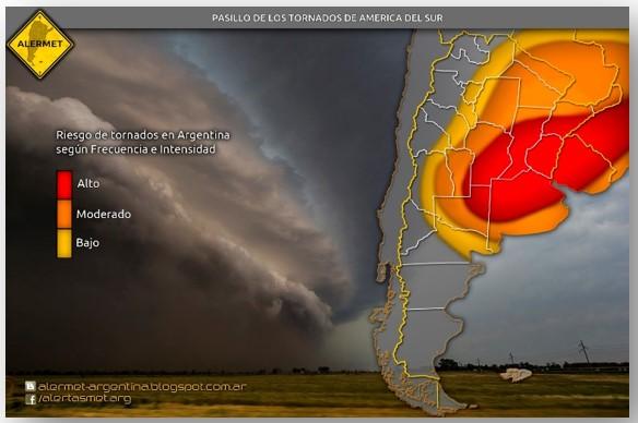 Pasillo de los tornados Uruguay